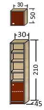 قفسه و کتابخانه عمق 45