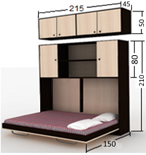 تخت تاشو افقی 120 دو نفره