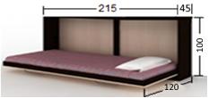 تخت تاشو افقی 90 (بدون ویترین)
